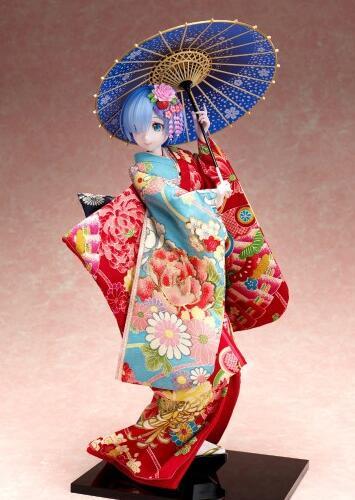 蕾姆手办 和服雨伞(FuRyu)